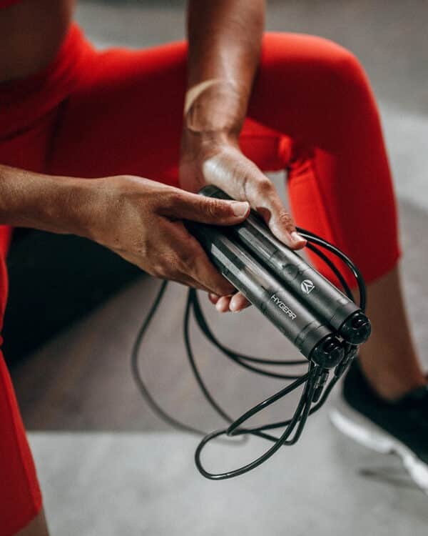 Close up of athlete holding the HYROPE